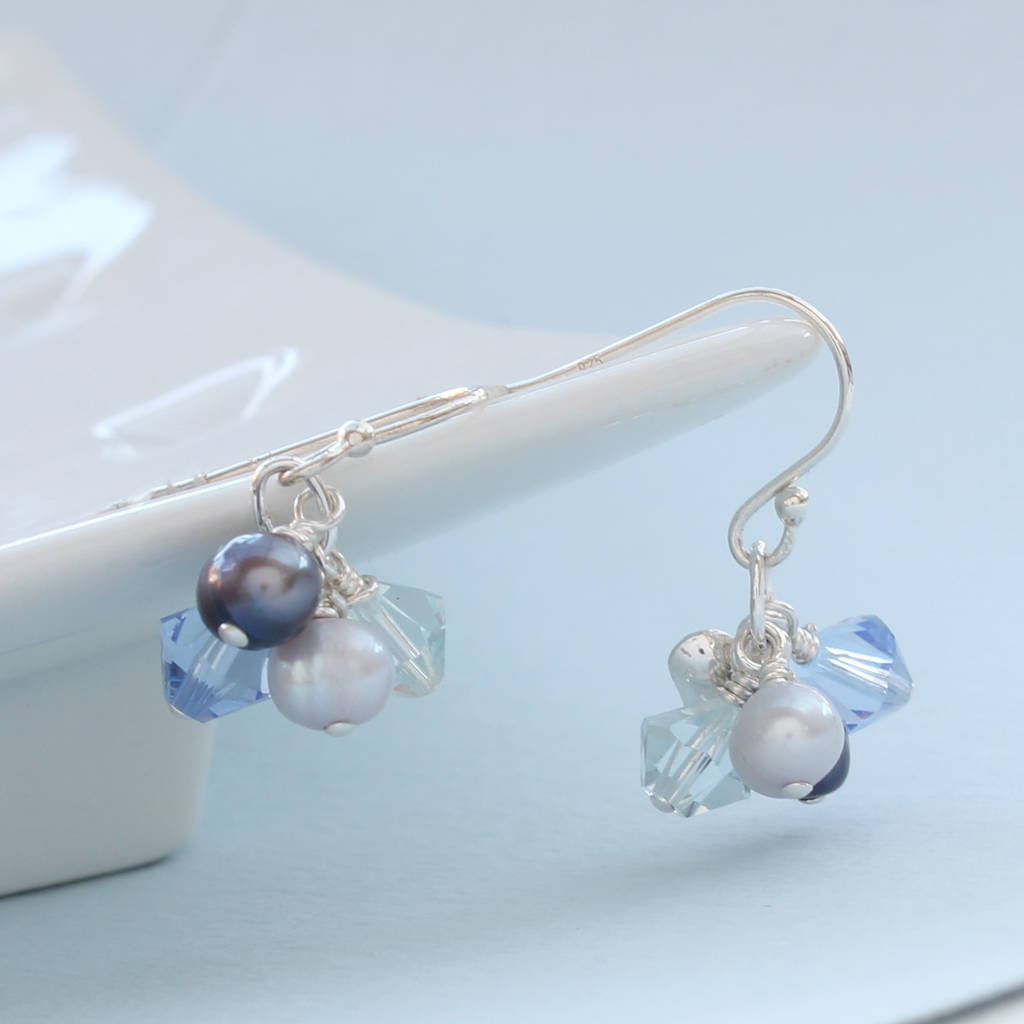 Pearl Cluster Earrings in Many Colours