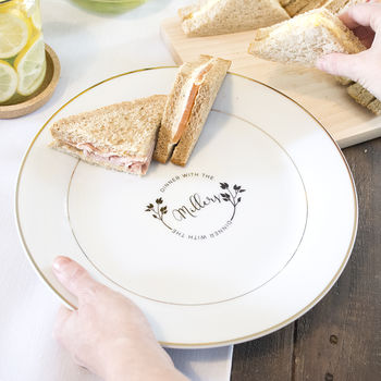 'Dinner With The…' Personalised Dinner Plate