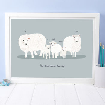Personalised Sheep And Lamb Portrait
