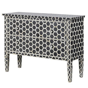 Bone Inlay Two Drawer Chest - furniture