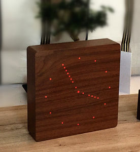 Walnut Analogue Click Clock