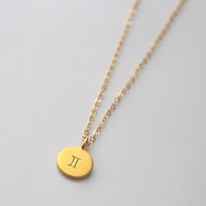 Gold Zodiac Star Sign Necklace - gifts for her