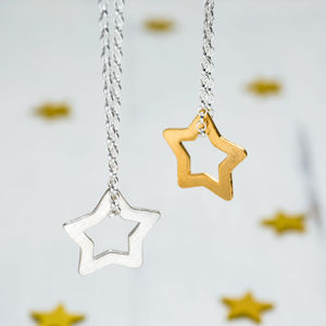 Personalised Superstar Necklace - celestial jewellery
