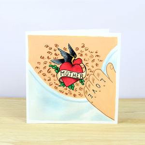 Mother's Day Tattoo Greetings Card - mother's day cards