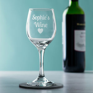 Personalised Wine Glass - gifts for friends