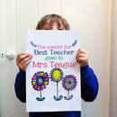 Personalised Big Teacher Card