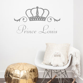 Prince Or Princess Personalised Wall Sticker