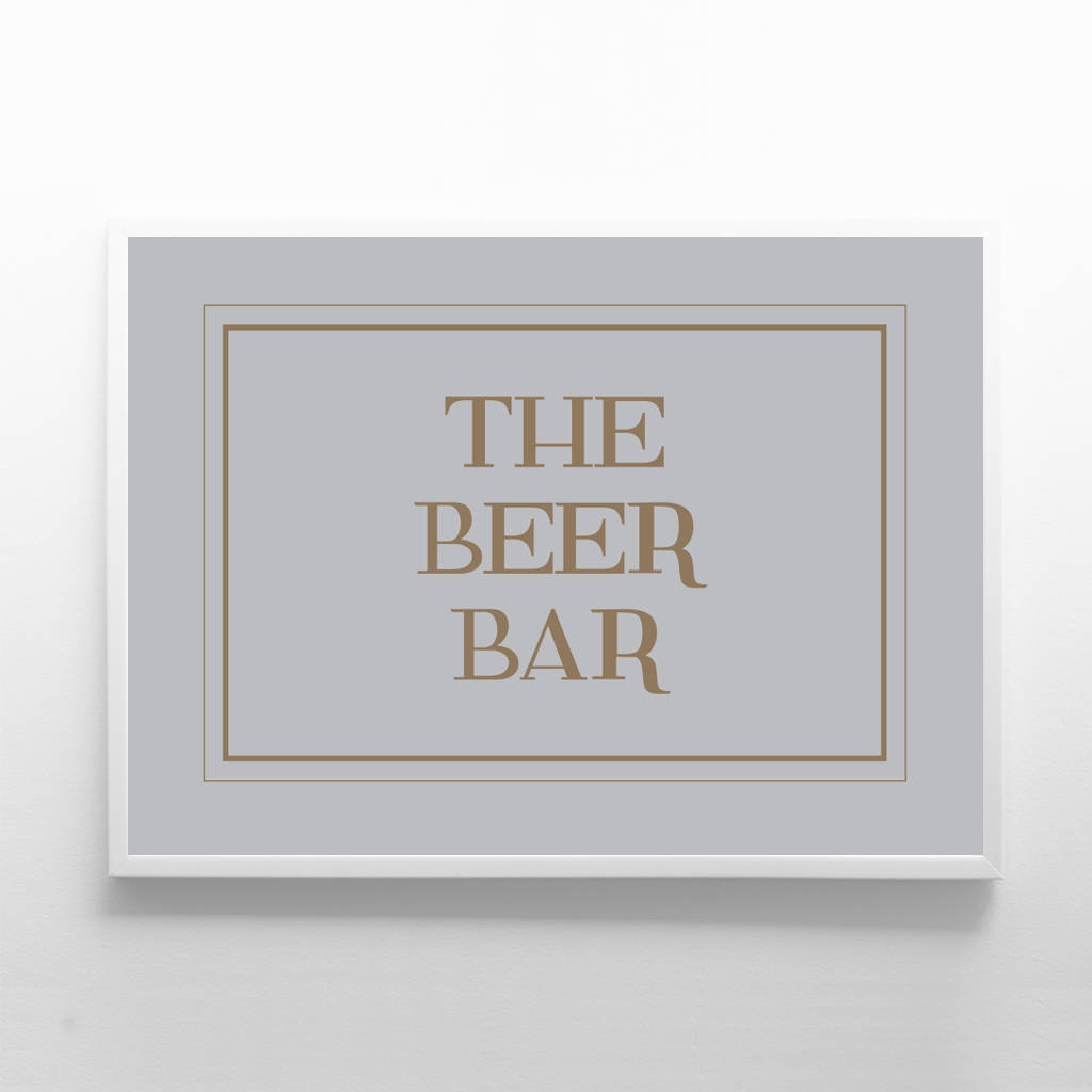 The Beer Bar Sign