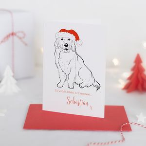 Christmas Card Sebastian Personalised Party Pooch