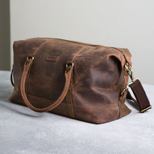 Vintage Leather Somerset Holdall - gifts for him
