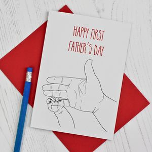Dad's First Father's Day Card - what's new