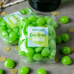Boozy Zesty Lime Gin And Tonic Sweets - gifts for her