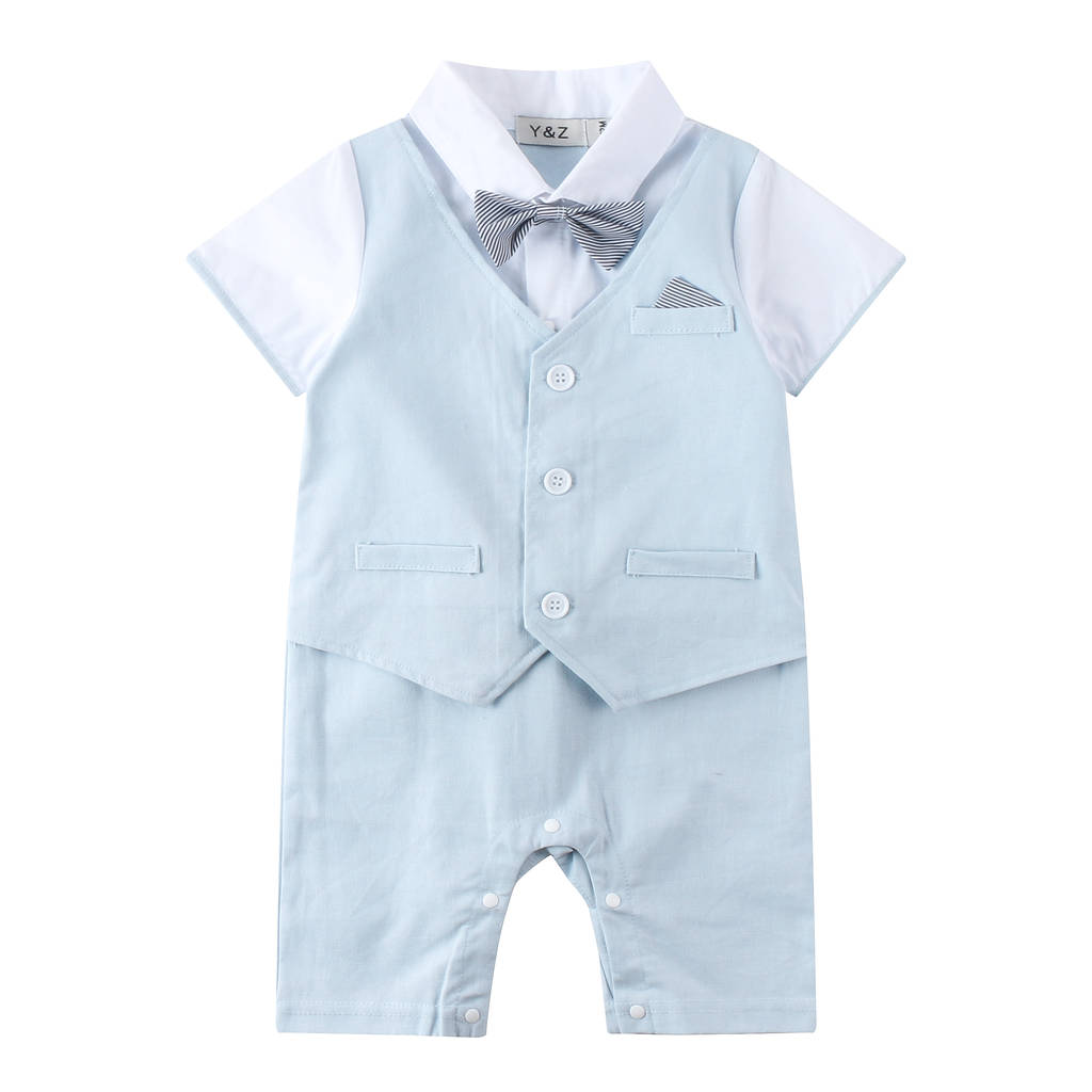 6387f1e26 baby boy wedding 1pc linen blend outfit by baby magic dress ...