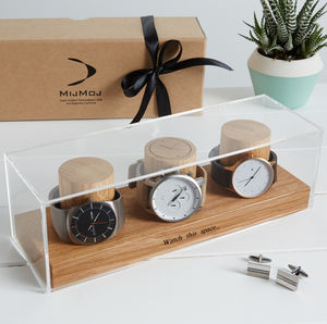 Personalised Watch Box For Three, Four And Five Watches
