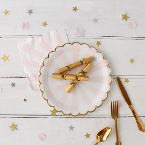 Gold Mini 'Saucy' Saucer Crackers - crackers