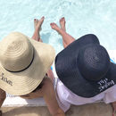 Personalised Summer Straw Hat