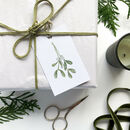 'Mistletoe Sprig' Hand Illustrated Christmas Gift Tags