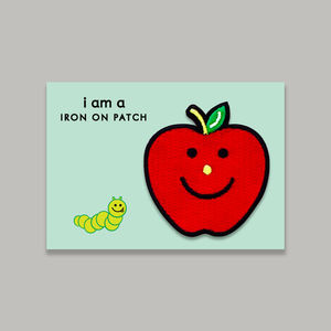 Apple Iron On Embroidered Patch