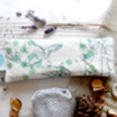 Dotty Bird Lavender Eye Pillow, Teal
