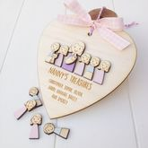 Personalised Nanny Or Grandma's Keepsake Heart - home