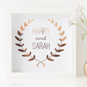 Personalised Framed Wedding Print - gifts for couples
