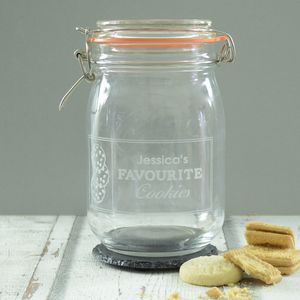 Personalised Engraved Cookie Kilner Storage Jar - tins, jars & bottles