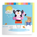 Penguin Jelly Magnet Card