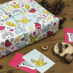 Woodland Animals Wrapping Paper Set