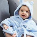 Blue Fleece Baby Robe