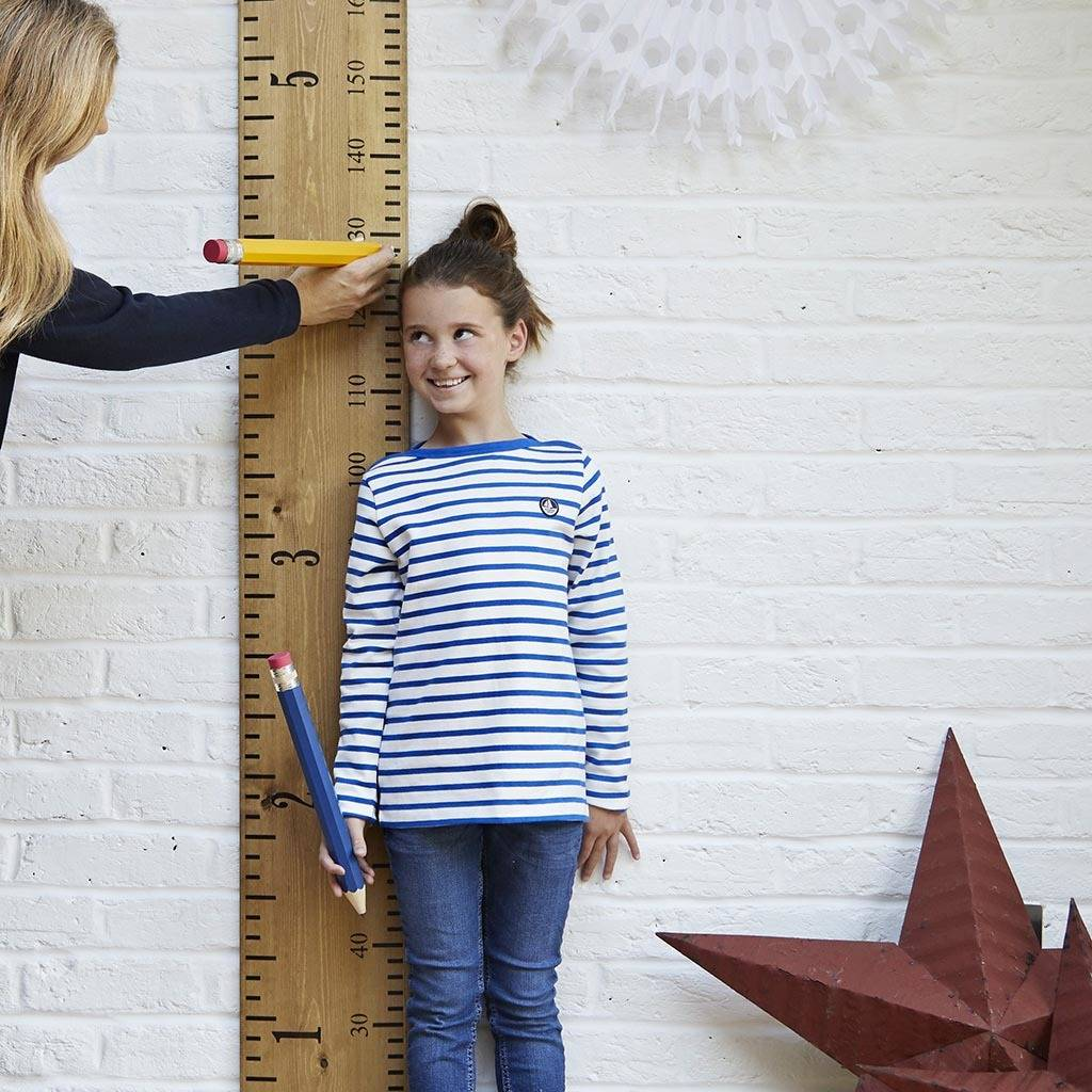 Personalised Wooden Ruler Height Chart 'kids Rule' By