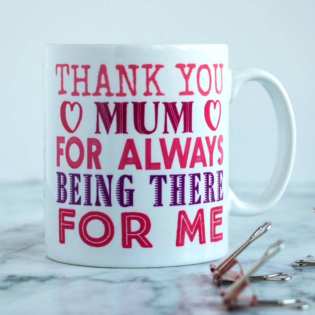 Personalised Mum's Thank You Mug