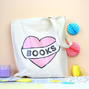 Love Books Tote Bag