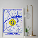 Custom Map Print Of Your Favourite Football Stadium