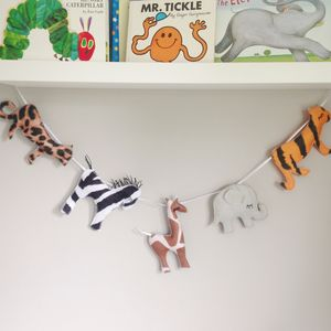 Felt Safari Garland - bunting & garlands