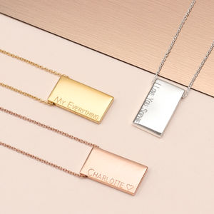 Personalised Gold Or Sterling Silver Tablet Necklace