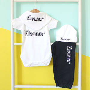 Personalised Name, Baby Grow Or Set