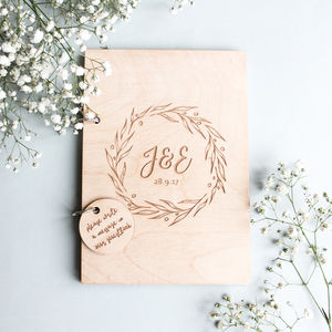 Personalised Initials Wedding Guest Book - albums & guest books