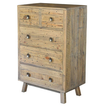 Plank Two Over Three Drawer Chest