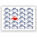 Parked cars art print