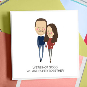 Personalised Super Together Anniversary Card - shop by category