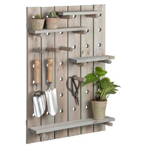 Wooden Peg Noticeboard - shelves