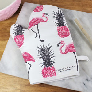 Flamingos And Pineapples Oven Glove