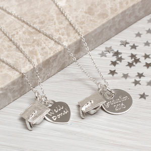 Personalised Sterling Silver Graduation Necklace - necklaces & pendants