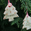 Set Of Personalised Christmas Ornaments