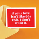 90s R And B Love Valentine's Card