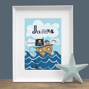 Ahoy There! Personalised Print