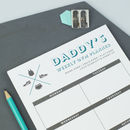Personalised Weekly Sports And Fitness Planner