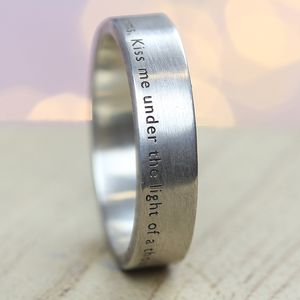 The Aura Personalised Silver Ring - wedding rings