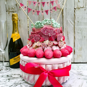 Pink Candy Toffee Crisp Cake - chocolates & confectionery