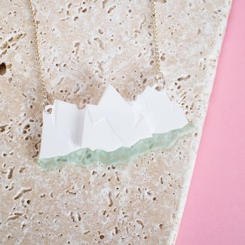 Geometric Iceberg Necklace